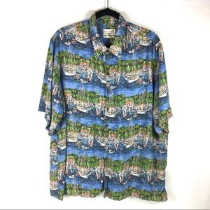Reyn Spooner Guy Buffet Hawaiian Camp Shirt XL